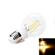 E26/E27 3.5 W 4 SMD 380-400 LM Warm White Decorative Globe Bulbs AC 220-240 V