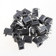 naaras dc virtajakki pistorasiaan, dc-005, 5.5-2.1mm pistorasia (20kpl)