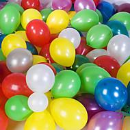 stor størrelse tykke pearlized runde ballonger (tilfeldig farge, 100stk)