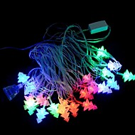 E1XSJ 5W 20-LED 3-Mode RGB Christmas Tree Style Light String - Transparent + White (220V / EU Plug)