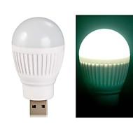 ampoule en forme de boule super brillantes alimenté par USB Mini LED lumière de nuit (blanc)