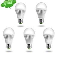 Ampoules Globe Blanc Chaud DUXLITE 5 pièces A60 E26/E27 14 W 1 COB 1280 LM AC 85-265 V