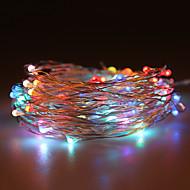vanntett 10w 100x0603smd myk kobber lampe fargerike rgb lys (dc 12v / 1000cm)