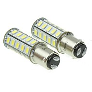 1157 20W 36x5730smd 800-1200lm 6000-6500k valkoinen valo johtanut lamppu auton jarruvalot (pari / ac12-16v)
