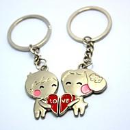 amor personalizado gravura em metal casal chaveiro