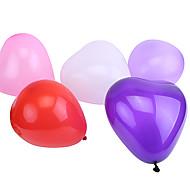 초대형 크기 합성지 하트 모양의 풍선 (색상을 선택할 수 있습니다, 50PCS)