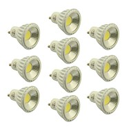 Focos LED Regulable GU10 5W 1 COB 400-450 LM Blanco Cálido / Blanco Fresco / Blanco Natural AC 100-240 / AC 110-130 V 10 piezas