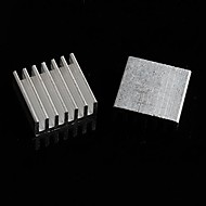 alumiininen jäähdytyslevy / elektroninen jäähdytin / jäähdytys alumiini block - hopea (14 x 14 x 6 mm) (10kpl)