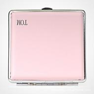 henkilökohtainen Isänpäivä lahja vaaleanpunainen metalli savukkeiden tapauksessa nahka (20)