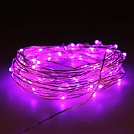 vattentät 10W 100x0603smd mjuk kopparlampa lila ljus (DC 12V / 1000 cm)