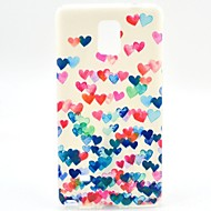 For Samsung Galaxy Note Mønster Etui Bagcover Etui Hjerte TPU for Samsung Note 4