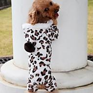 capa del perro ropa para perros ropa para mascotas - grano del leopardo marrón