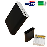 DIY 4*18650 Battery Box External Battery for iPhone 6/5S Samsung S4/5 HTC and Others(This Item Battery is Not Included)