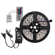 5M 300X5050 SMD RGB LED Strip Light and 44Key Remote Controller and 6A EU Power Supply (AC110-240V)