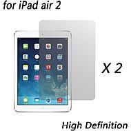 [2-pack] prémio alta definição protetores de tela claras para ipad ar 2
