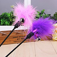 Colourful Feather Shaped Playing Stick for Pet Cats(Random Colour)