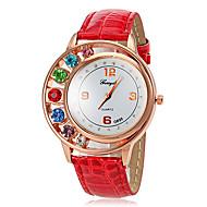 Quarz Strass Fall PU-Band analog Armbanduhr Frauen (verschiedene Farben)