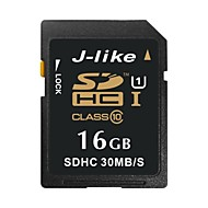 J-Like 16GB UHS-I U1 / Clase 10 SD/SDHC/SDXCMax Read Speed30 (MB/S)Max Write Speed15 (MB/S)