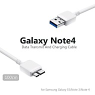 1m micro usb runde datakabel for samsung galaxy s5 / noet 3 / note 4