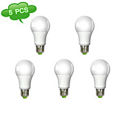 5PCS A60 Dimmable E27 14W(=Incan 120W) CRI>80 COB LED 1280LM 3000K Warm White Light LED Globe Bulb (AC 100-240V)
