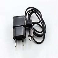 1 set eu usb lader stekker + micro usb kabel datum sync voor samsung galaxy note2 n7100 / S3 / S4 (verschillende kleuren)