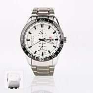 henkilökohtainen lahja uusi tyyli miesten valkoinen soittaa ruostumaton teräs bändi urheilu analoginen kaiverrettu kello