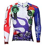 estilo verano y otoño 100% poliéster búsqueda fantasía de los hombres paladinsport manga larga jersey de ciclismo
