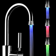 RC-F1101 Mini Stylish Water Stream Temperature Sensor Luminous LED Light Faucet Light (Plastic, Chrome Finish)