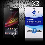 HD Screen Protector with Dust-Absorber for Sony Z1 L39H (3 PCS)