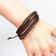 Herrn Armband Lederarmbänder Einzigartiges Design Modisch Europäisch Modeschmuck Leder Schmuck Schmuck Für Weihnachts Geschenke