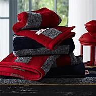 el havlusu paketi sensleep® 3adet, siyah veya kırmızı şerit tasarımı% 100 pamuklu el havlusu