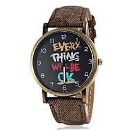 patrón Inglés ronda de las mujeres del dial del reloj de cuarzo banda pu (colores surtidos)