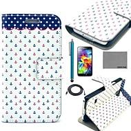 Varten Korttikotelo / Tuella / Flip / Kuvio Etui Kokonaan peittävä Etui Ankkuri Kova Tekonahka Samsung S5 Mini