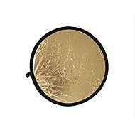80cm 2 en 1 or illuminateur d'argent réflecteur (or)