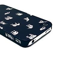 pc fuusii®&dipinte corpo indietro casi Piena copertura per iphone 4 / 4s (colori assortiti)