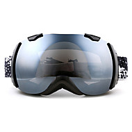 BASTO Dustproof Black Frame Mirror Lens Skiing Snow Goggles