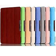 Voor Samsung Galaxy hoesje met standaard / Flip / Origami / Magnetisch hoesje Volledige behuizing hoesje Effen kleur PU-leer SamsungTab S
