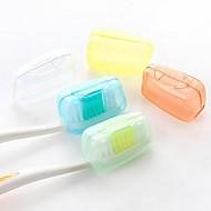 aparelhos de banho, 5 pcs família bactérias doces coloridos viajam escova de dentes (cor aleatória)