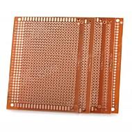 Universal DIY 7 x 9cm Bakelite PCB Circuit Board - Golden (5pcs)