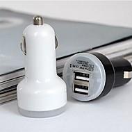 universaali kaksiporttinen USB-autolaturi sovitin iPhone / Samsung ja muut matkapuhelin (5v, 2a) (valikoituja väriä)