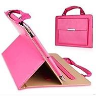 einfarbig PU-Handtasche Ganzkörperledertasche mit Ständer für iPad 2/3/4 (farblich sortiert)