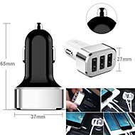 3-usb auton tupakansytyttimeen virtalähde älypuhelimille ja välilehdet (samsung s2 / s3 / S4 / S5 / Note2, iPhone, eri värejä)