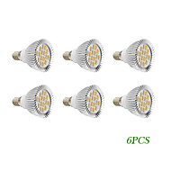 6 pcs E14 / GU10 4W 16 SMD 5730 280 LM Warm White / Cool White LED Spotlight AC 220-240 / AC 110-130 V