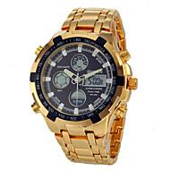 menns flerfunksjonell analog-digital full stål band håndleddet watch (assorterte farger)