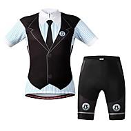 wolfbike unisexe VTT d'été respirant vélo à manches courtes costume noir + bleu