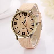 numeri arabi delle donne e freccia tavola rotonda digitale colore puro orologio cinturino in teak c&d-355