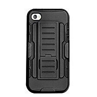 Solid Color TPU and Silicone 3-Proof Full Body Case with Stand ,Flocking Protection and Matte for iPhone 5/5S