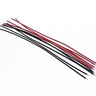 האדום עשה זאת בעצמך 15 סנטימטר חוט כבל + שחורה (20pcs)