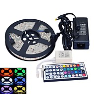 JIAWEN® Waterproof 5M 300x5050 SMD RGB LED Strip Flexible Light + RGB 44 Key Remote Control + AC Adapter(AC110-240V)