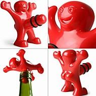 kreative glade mænd stil plastflaske prop 9,5 * 8,5 * 5,5 cm (3,74 * 3,35 * 2,17 tommer)